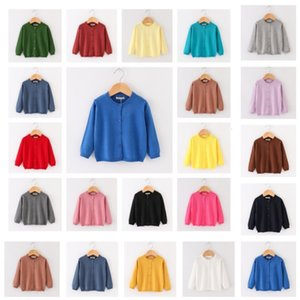 INS Kids Designer Sweater Baby Boys Girls Spring Autumn Knitted Cardigan Children Jackets Solid Color Soft Fashion Knit Tops Clothes G20303