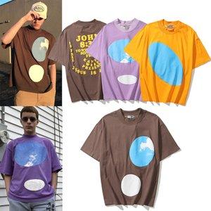 21SS Gute Qaulity Sommer Herren Designer T Shirts 100% Baumwolle T-shirts Mode Lässige Paare Kurze Ärmeln T-Shirt Komfortables CPFM Kanye Jesus ist König Männer T-Shirt