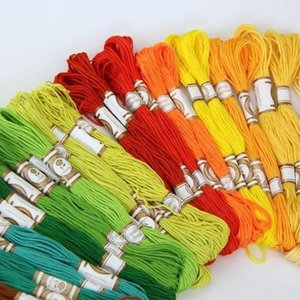 50 100PCS Cross Stitch Cotton Embroidery Thread Floss Sewing Skeins Craft TY53 Yarn