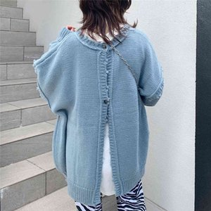 Women's Knits & Tees Thin Cardigan Women Knitted Sweater Double Sides Wear Oversize Japan Korean Style Casual Autumn Simple Loose Sweaters Coat K9NS