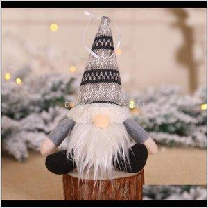 Орнамент вязаный плюшевый гнома кукла рождественские настенные висит кулон праздник декор подарочные украшения деревьев EWE2932 Navyz Rolmo