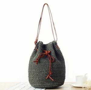 casaul rattan women shoulder bags wicker woven large capacity tote tassel crossbody bag summer beach big purses travel bali