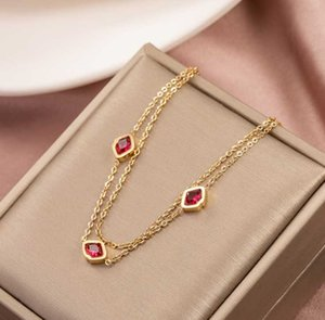 Stainless Steel Simple Scarlet Kiss Lipstick Titanium Rose Gold Lip Pendant Necklace Bracelet Set Earrings &