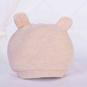Soft comfortable Colored Cotton Baby Hat binaural BABY HAT NEWBORN hat maternal and infant products