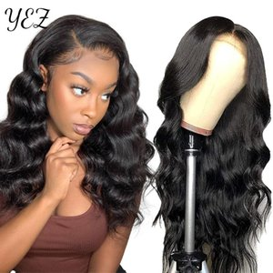 Lace Wigs YEZ Body Wave Front Wig 32Inch Transparent 13x6 Hd Frontal 210 Density Brazilian Hair For Women Y46910
