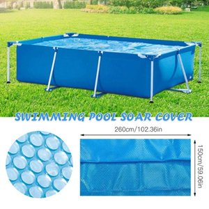 Pool & Accessories Solar Tarpaulin Rectangular Durable Swimming Protection Cover PE Bubble Insulation Film For Indoor Outdoor Frame