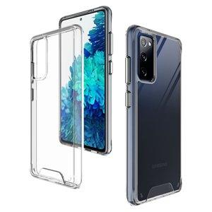Étui spatial transparent pour Samsung Galaxy S20 Fe Plus Note 20 Ultra S21 plus S10 Lite M62 F62 M01 M21 Couverture antichoc