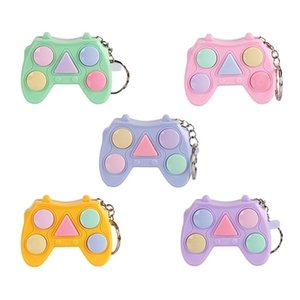 Fidget Pads Toys gamepad square controller shape pad poppers push bubble popper pop its board simple dimple key ring squeeze finger fun keychain G42S06G