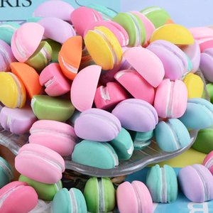 harms 10 Styles Party Resin Candy Colour Macarons Biscuit Shape Charm Accessories Cream Mobile Phone Diy Material 17*23 Mm