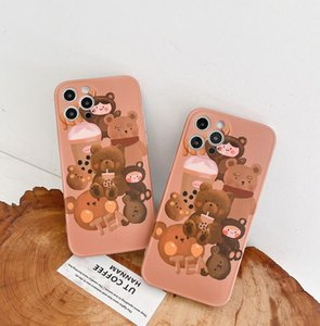 Cute Cartoon Little Bear Pattern Cell Phone Cases Iphone11MAX 6S 8 Iphone 7plus XR Cushion Pressure Soft Shell Iphone12 Pro Max