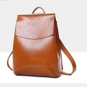 2021 backpack ladies handbags Korean version the trend of foreign trade leisure college wind school bags travel bag dual-use backpacks
