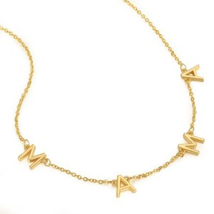 Catene Moda lettera Mama Tiny DAINTY collana oro argento color choker per le donne ragazza pendente regalo gioielli