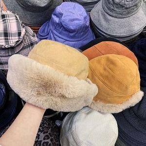 Accesorios de moda frontal largo corto espalda dividida gruesa gruesa cálida imitación conejo pelo coreano versátil noreste aislamiento frío protección oreja protección sombrero