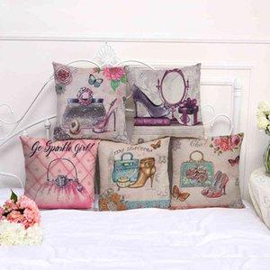 Romantic style Eiffel Tower cotton hemp home decoration by pillow case 100gc1029