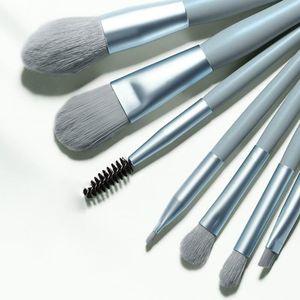 Makeup Brushes 7Pcs Make-Up Kwasten Pro Groene Borstel Set Poeder Oogschaduw Blending Eyeliner Wimper Wenkbrauw Make Up Beauty Cosmestic Bor