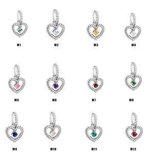 link S925 silver December love zircon drop pendant bracelet DIY Panjia