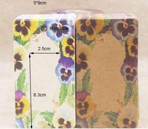 2021 Color printing paper 5 * 9cm large earrings jewelry packaging card spot wholesale kraft AB01