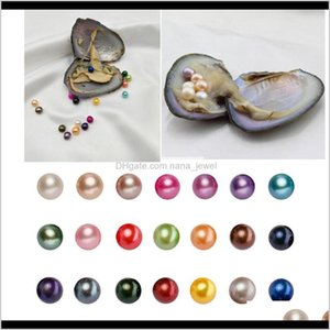 Jewelry Drop Delivery 2021 Round Akoya Oyster 68Mm 28 Mix Color Big Fresh Water Gift Diy Natural Pearl Loose Beads Decorations Vacuum Packagi