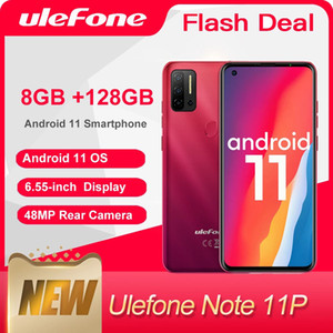 Ulefone Note 11P Android 11 (2021) Smartphone 8GB +128GB 4G-LTE Unlocked Phone Global Vision 4400mAh 48MP Camera Mobile Phones