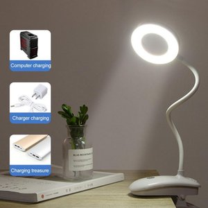Table Lamps Flexible USB Lamp 18 Led Desk Touch Clip Study Night Light Magnifier Gooseneck Desktop Eye Protection