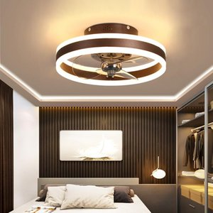 Modern Simple Ceiling Fan Transparent Crystal Decorative LED Remote Control Lighting Bedroom Lamp Free Delivery Fans