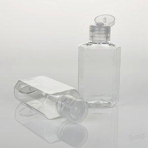 Flip Butterfly Lid Bottle Cosmetic Bottle With Flip Cap for Clean PET Makeup Fluid Disposable Hand Sanitizer Gel Plastic Bottle BH4499 WXM