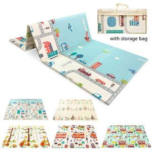 Foldable Crawling Carpet Kid Game Activity Rug Blanket Educational Toys Double-sided Baby Play Mat XPE Soft Floor Playmat Carpet 210401
