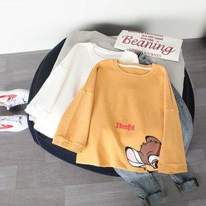 2021 Summer New White Cotton Short T-shirt Women Loose Korean Net Red Cartoon Half Sleeve Clothes Fashion