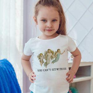 Summer Toddler Shirt Boys Girls T Shirt Angel Kiss Sacred Cupid Arrow Love God Oil Painting Print Harajuku Simple T-shirts
