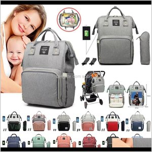 Storage Housekeeping Organization Home Garden Drop Delivery 2021 Diaper Charging Usb Waterproof Mommy Nappy Bag Travel Backpack Baby Nursing