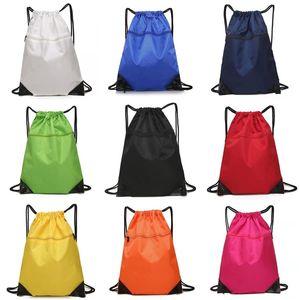 Storage bag outdoor sports mountaineering waterproof Oxford bundle pocket double shoulder drawstring bags T500841