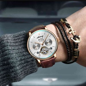 Ailang men's diesel watch, brand model, automatic, Swiss machinery, sports pilot skeleton, Steampunk, waterproof