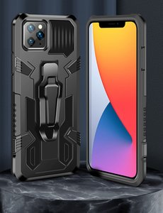 Shockproof Armor Cell Phone Cases 360 Degree Full Body Protective Back Cover with Metal Belt Clip Kickstand for iPhone Samsung LG Moto Huawei