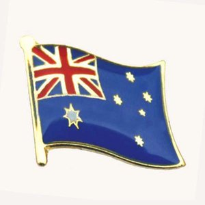 Australia Country Lapel Pin Single Pin Epoxy Surface Attach 1pcs Butterfly Button Accept Customized MOQ 50pcs Fee