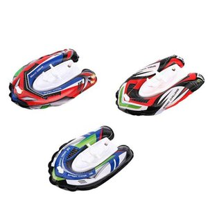 3pcs Inflatable Boat Wind Up Powered Speedboat Kids Water Toys