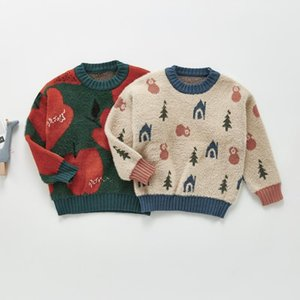 Pullover Autumn Fashion Print Boys And Girls Long Sleeve Knit Sweater Baby Kids Knitted Tops Cotton Children Clothing