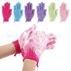 Gants de bain, serviettes de main, boue de gommage exfoliant, frottement du dos, soin du corps de massage de spa double face, emballage indépendant un 318 s2