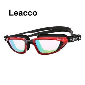 Neue professionelle große Rahmen plattiert schwimmen brille glas männer frau eyewear schwimmbrille mit case byesw