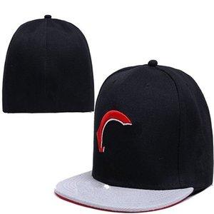 장착 된 모자 힙합 크기 모자 야구 모자 남자를위한 성인 평면 피크 여성 블랙 그레이 풀 폐쇄
