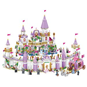 731PCS Gril Friends Princess Windsor's Castle Cinderella Princess Royal Carriage Model Building Blocks Kit Toys Gift 210330