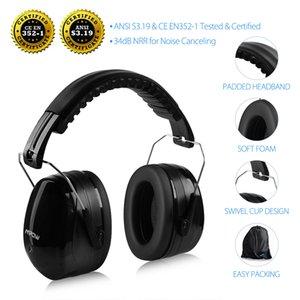 MPOW HP056 SNR34DB шумоподавление ушные ушные наушники шутер слуховой защита складной головки чашка уха с мягкой пеной для взрослых