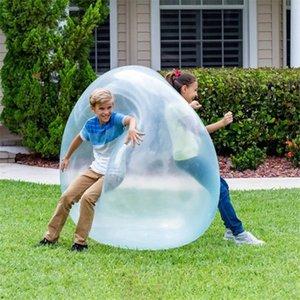 DHL 120cm crianças verão esportes brinquedo brinquedo inflável borbulha bola esfera ao ar livre brinquedos Água ar suave soprar um presente de jogo de festa divertido para crianças
