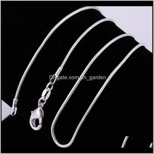 Chains Necklaces Pendants Drop Delivery 2021 Fashion S925 1Dot2Mm Flat 20 Stering 925 Sier Plated Necklace Plain Chain Accessories Jewelry Sn