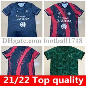 21 22 Al-Ahli Saudi Soccer Jersey Saudi Arábia Away 2021 2022 Mens Al Ahli Jeddah Eduardo Botia Home Camisas de Futebol de Manga Curta