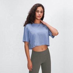 T-Shirts Tank Women Short Blue Style Tops Workout Lulu Xxcku Crop Sports Sleeves Yoga Cdhpo