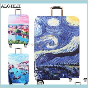 Storage Bags Home & Organization Housekeeping Home Garden Alghlh Waterproof Suitcases On Wheels Protective Cover Cute Kitty Suitcase C