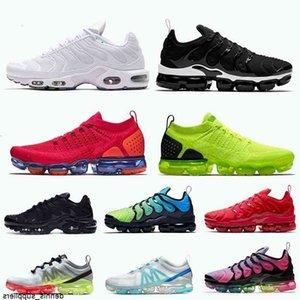 En Kaliteli Sinek Örgü 2.0 Kadın Koşu Ayakkabıları Beyaz Siyah Kırmızı Volt Artı TN Erkek Eğitmenler Spor Sneakers