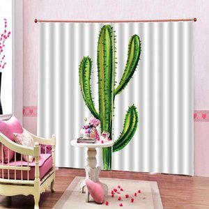 Curtain & Drapes Green Plant 3D Custom Luxury Blackout Window Living Room El Bedroom Indoor Decor