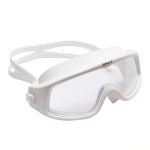 Professional Big Frame Comfortable Silicone Glasses Waterproof Anti-Fog Clear Lens Men Women ming Goggles Swim Eyewear