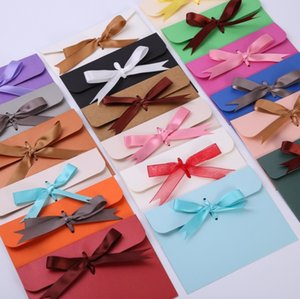 24*18*0.7cm bow Envelope Kraft paper pocket bag Kerchief Wrap Handkerchief Silk scarf packing boxes